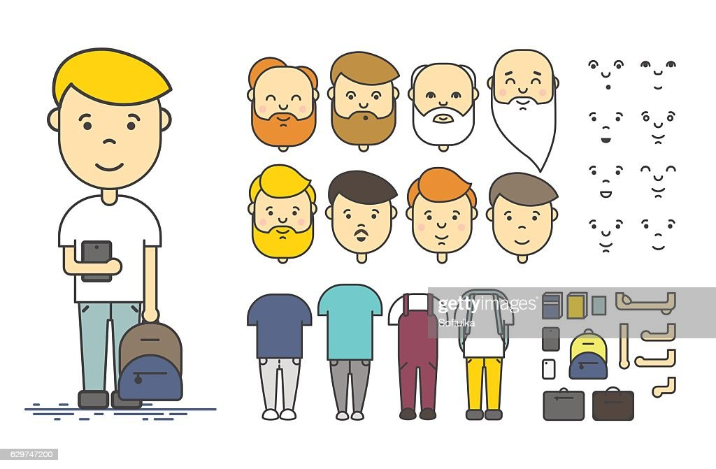 Man character creation set