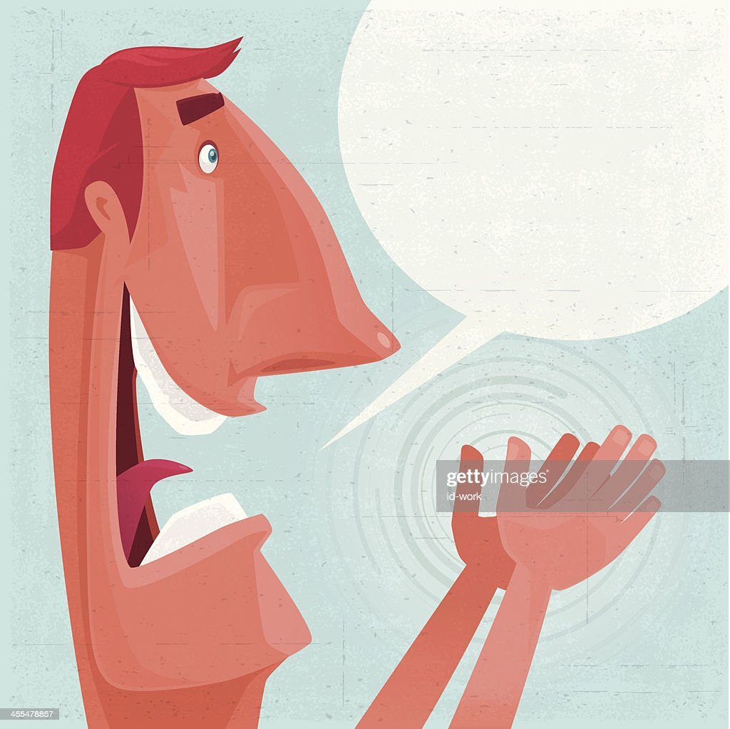 man clapping : stock illustration