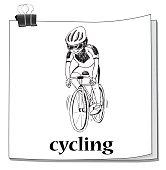Man cycling on mountain bike
