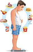 Man Deciding To Go On A Diet
