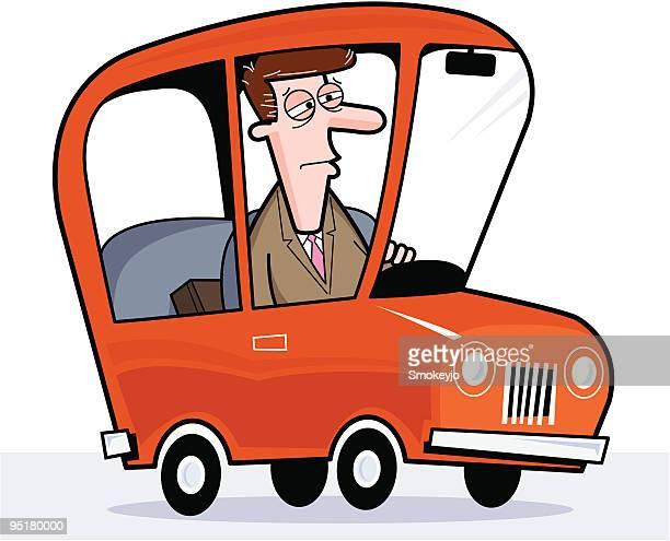 Carro de condução Homem