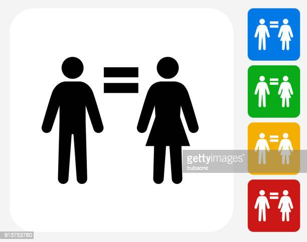 man equal to woman. - equal opportunity stock illustrations, clip art, cartoons, & icons