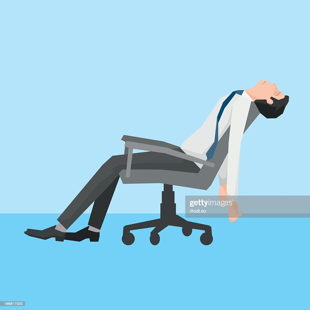 Man exhausted on a chair.