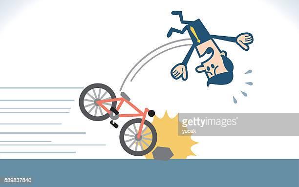 Man fall from a bike