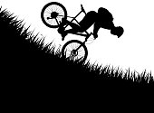 man falling from bicycle