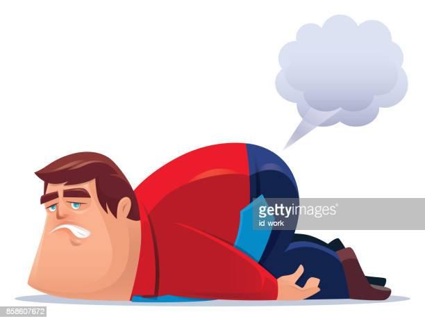 man farting