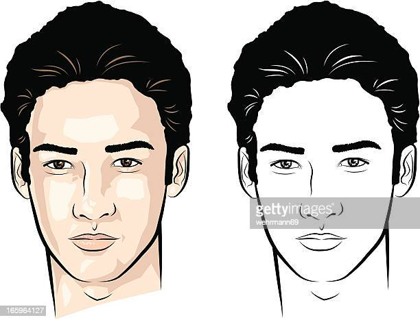 man from asia - toughness stock illustrations
