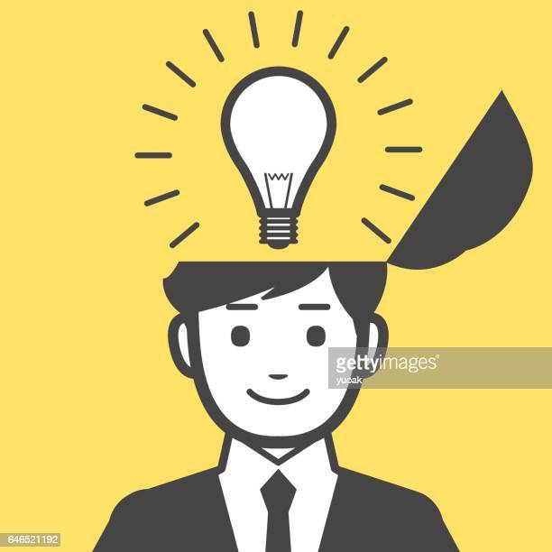 man get the idea - ideas stock illustrations