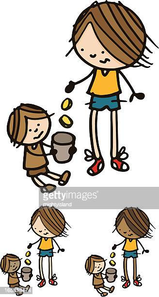 Homeless Child Clip Art - Royalty Free - GoGraph