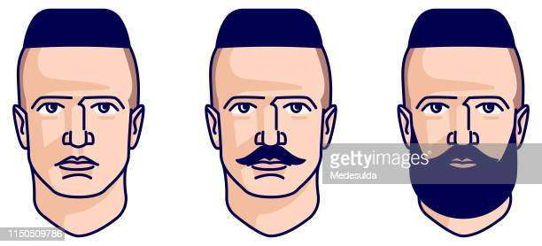 ilustrações de stock, clip art, desenhos animados e ícones de man hairstyle - cortar cabelo