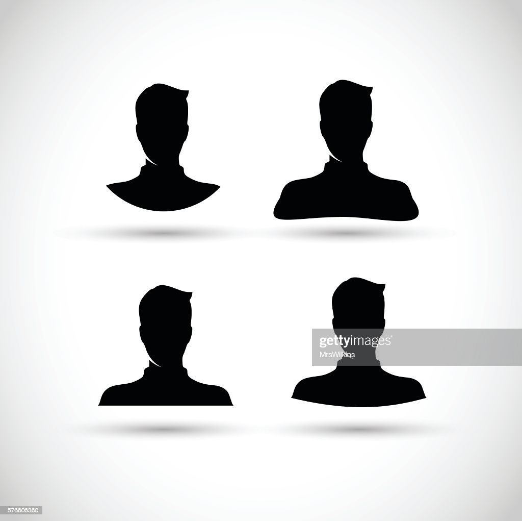 Man head set vector illustration