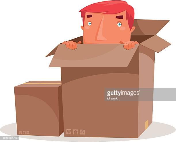 man hiding
