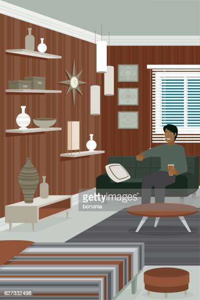 Man in contemporary room