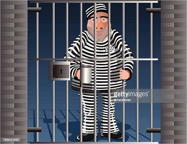Mann im Gefängnis (Vektor