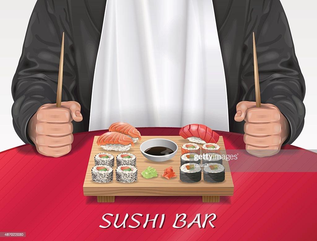 Man in Sushi Bar
