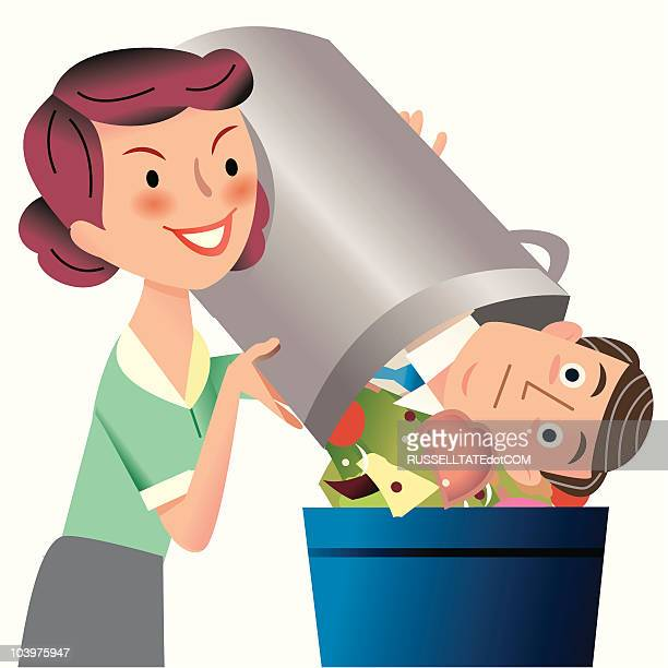 Man in the garbage