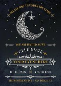 Man in the Moon Invitation