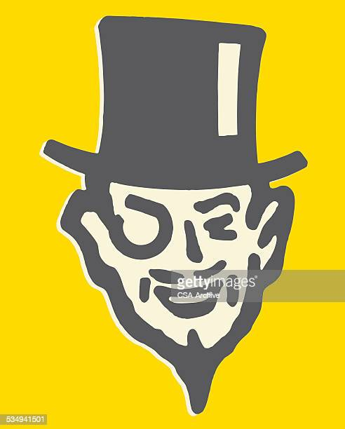 Man in Top Hat with Monocle