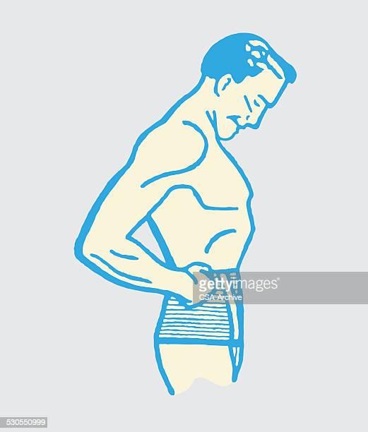 man in underwear - masculinity stock illustrations, clip art, cartoons, & icons