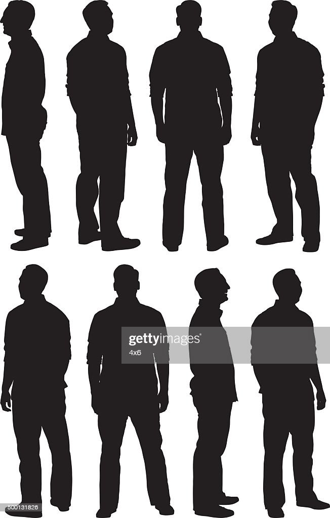 Man in various poses : stock illustration