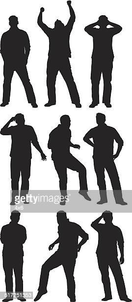 Man in various poses