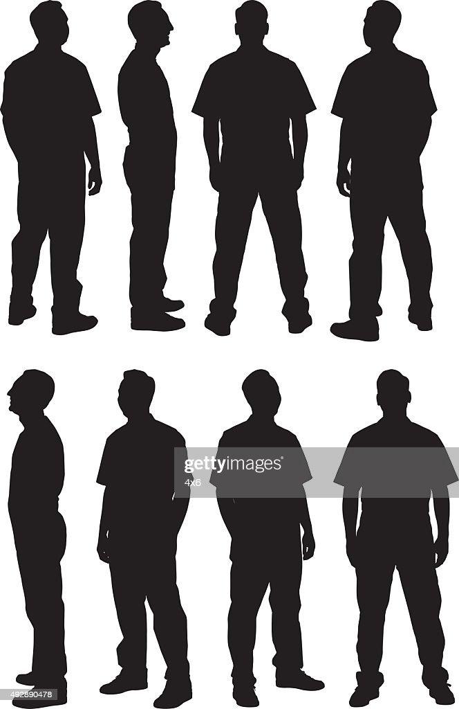 Man in various views : stock illustration
