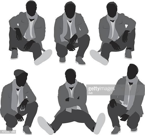 Homme en vêtements d'hiver
