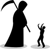 man is afraid of death