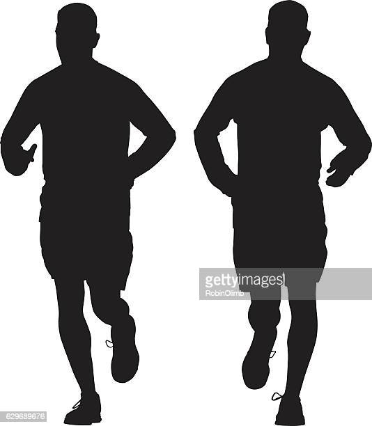 Man Jogging Silhouettes