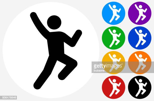 man jumping in joy icon - joy stock illustrations
