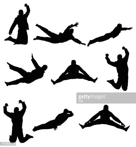man jumping - multiple image stock illustrations, clip art, cartoons, & icons