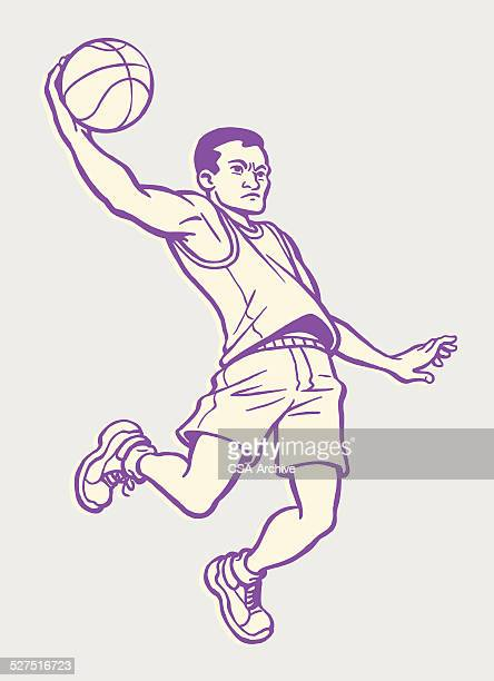 Man Jumping With Basketball
