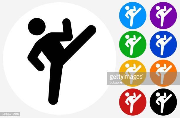 Man Kicking Icon