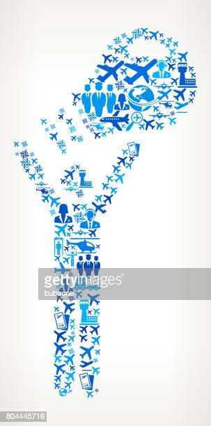 Man & Lightbulb  Aviation and Air Planes Vector Graphic