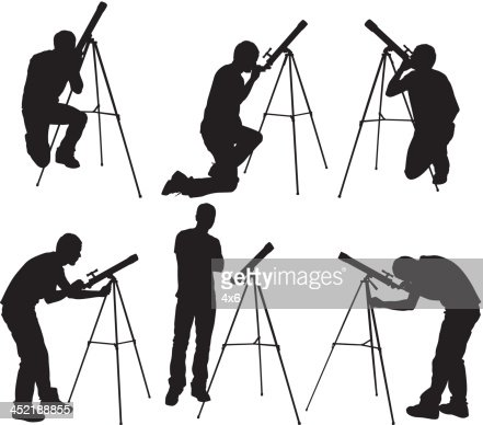 Person Looking Through Telescope