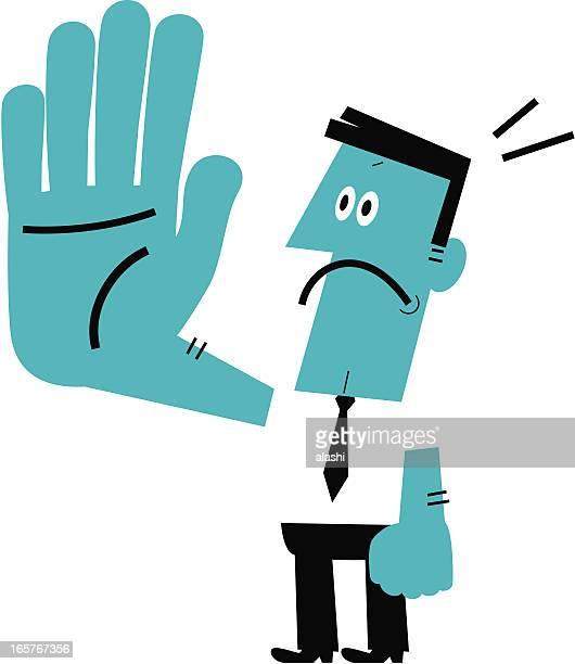 illustrations, cliparts, dessins animés et icônes de homme faisant arrêt geste - panneau sens interdit