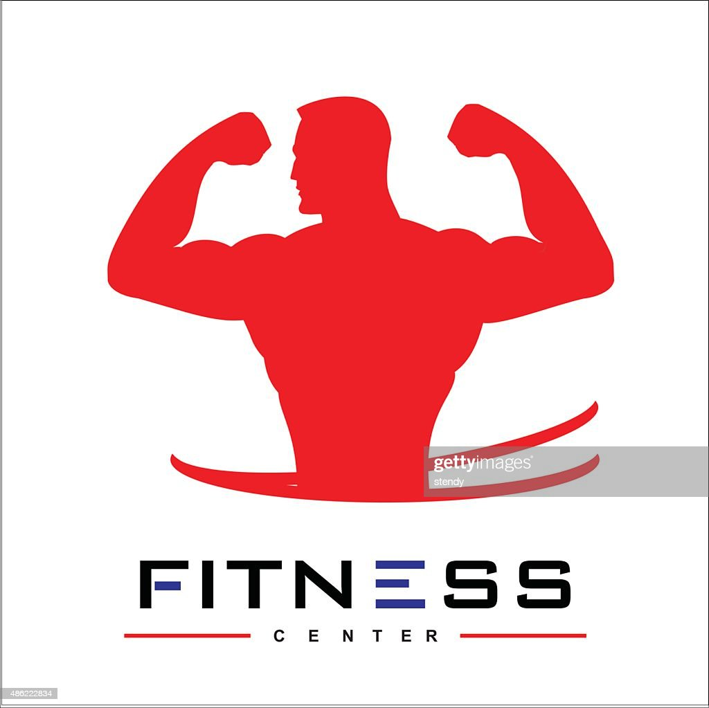 man of fitness silhouette character vector design template