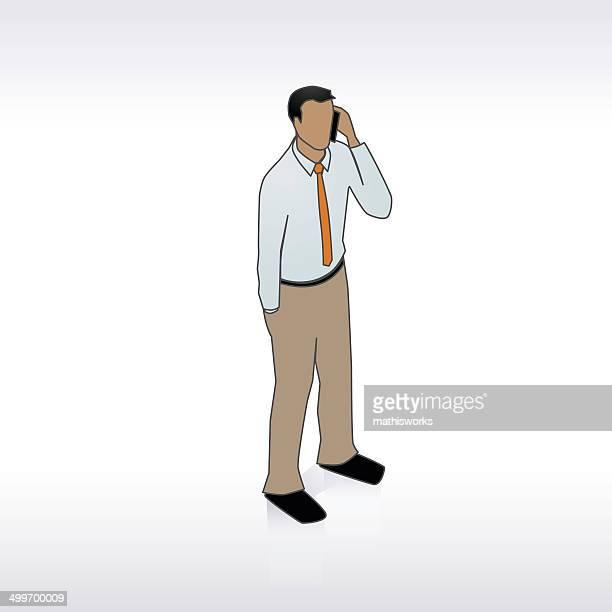 ilustrações de stock, clip art, desenhos animados e ícones de homem com ilustração de telefone - mathisworks