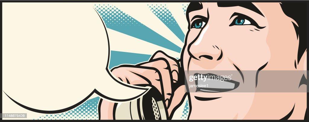 Man On The Phone : stock illustration