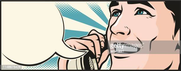 man on the phone - wide screen stock illustrations