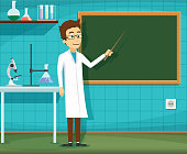 Man on white lab coat