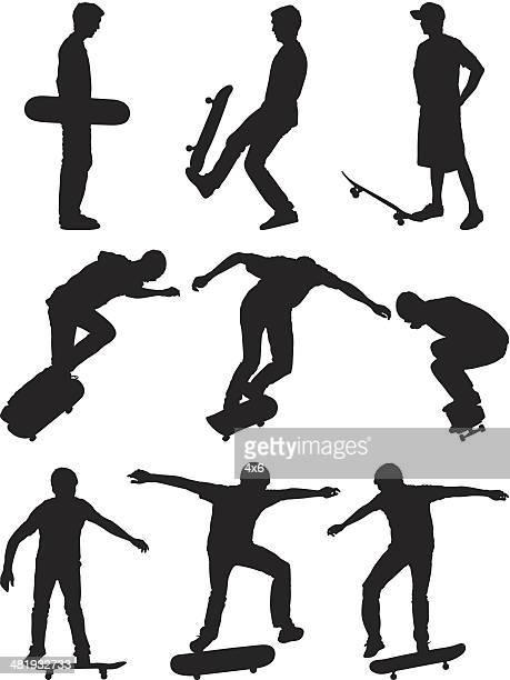 男性のスタントするには、スケートボード