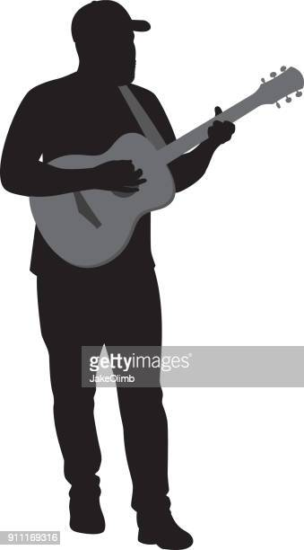 Man Playing Acoustic Guitar Silhouette