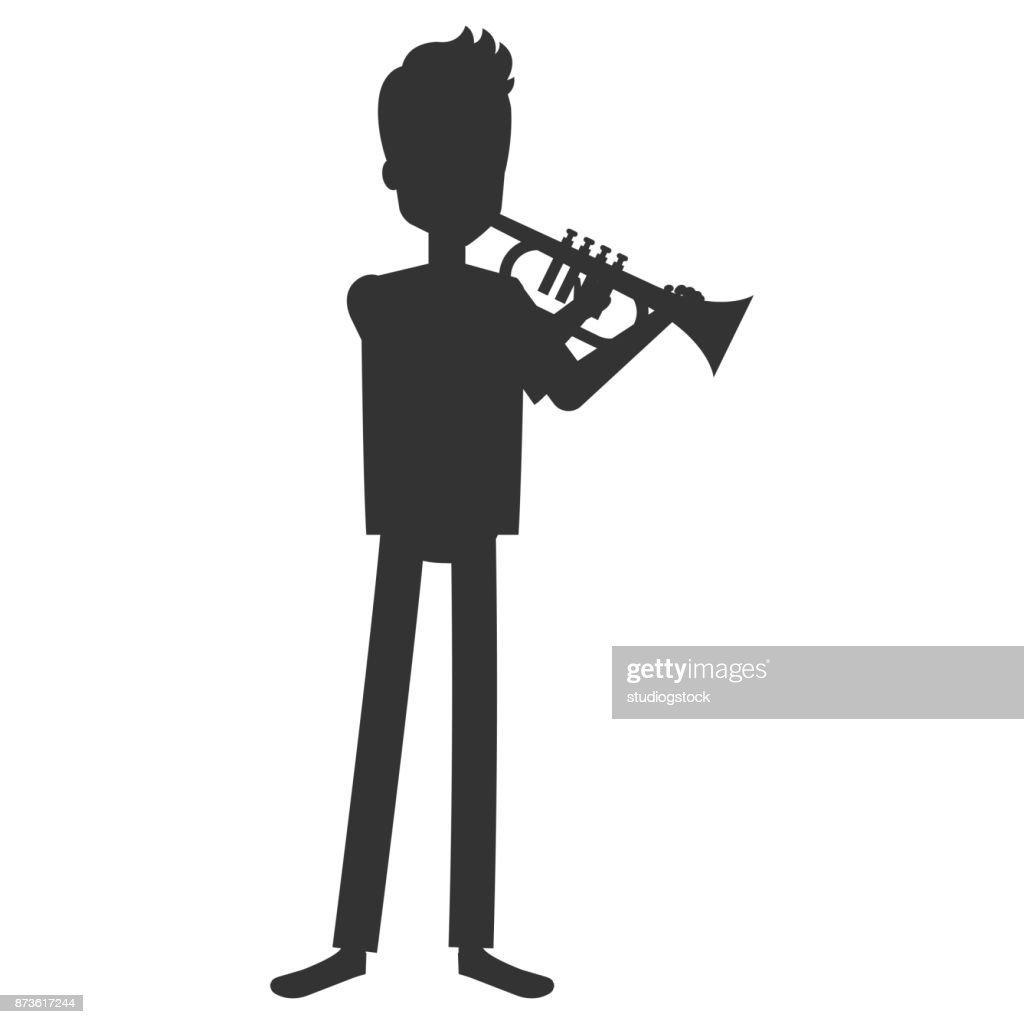 man playing trump character