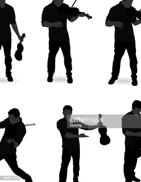 Homem a tocar violino