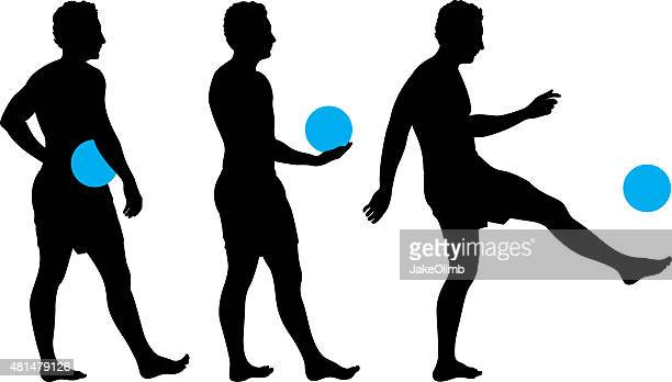 Man Playing with Ball Silhouette