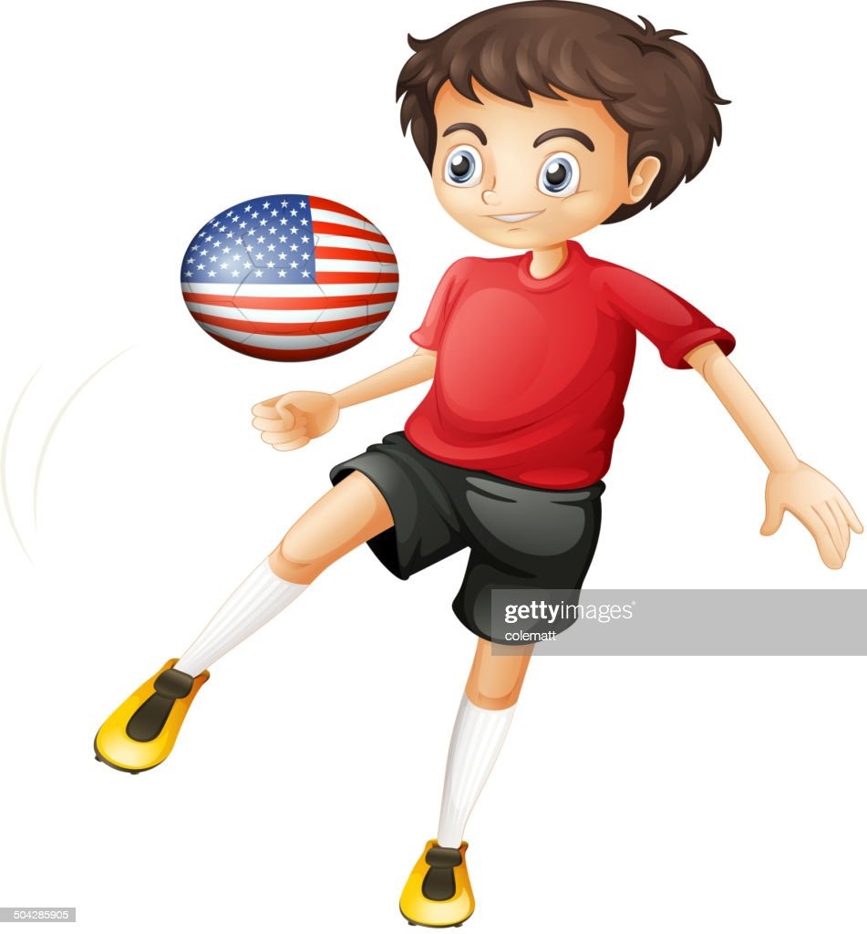 Man playing with the ball from the United States