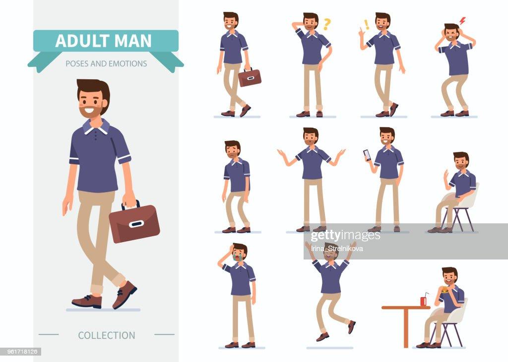 man poses