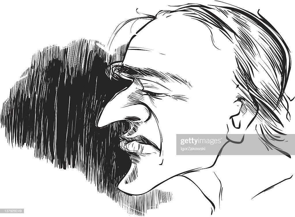 man profile caricature