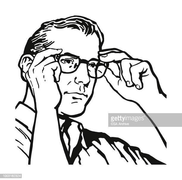 60点の眼鏡 手のイラスト素材クリップアート素材マンガ素材